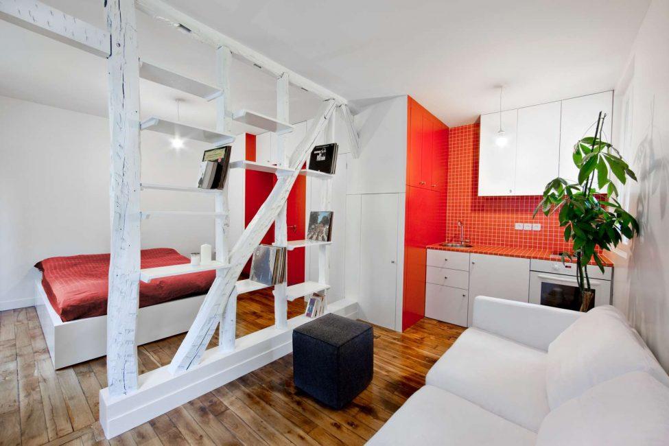 Основное в пространстве однокомнатной квартиры - это её функциональность