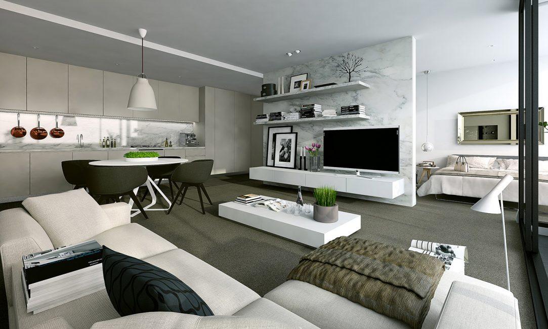 Используйте одно напольное покрытие для всей квартиры