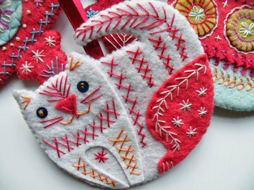 Рождественский кот из фетра
