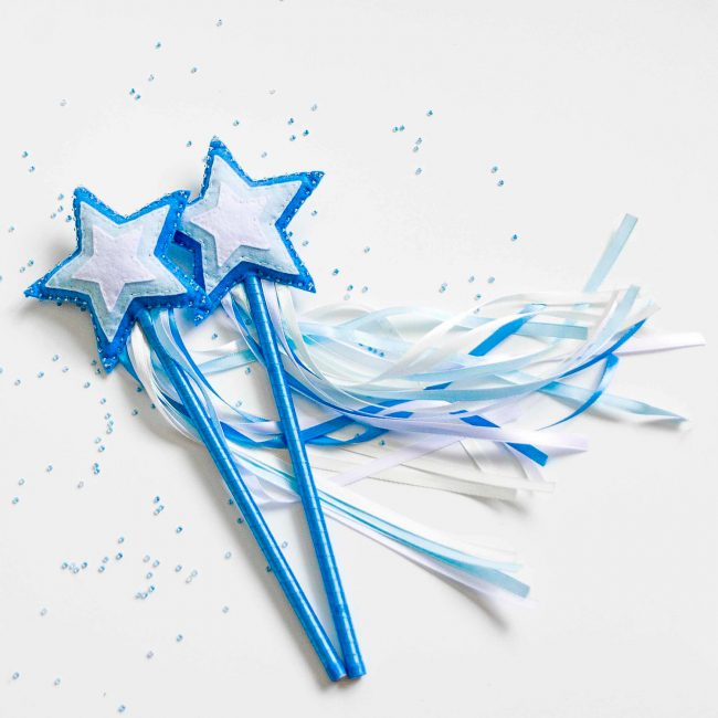Творите волшебство с помощью этой нарядной волшебной палочки из фетра