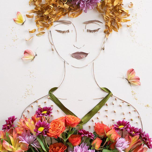 """Украсьте """"платье"""" цветами"""