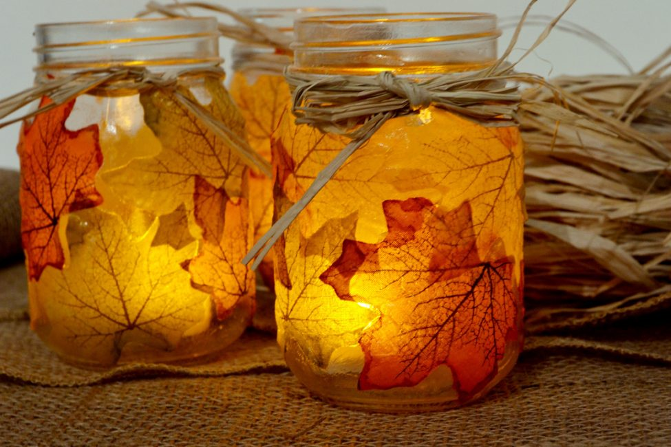 Осеннее украшение своими руками