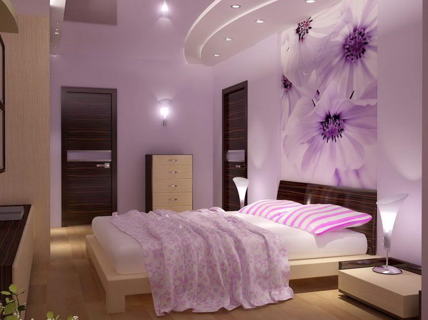 Прекрасное покрывало в тон спальни