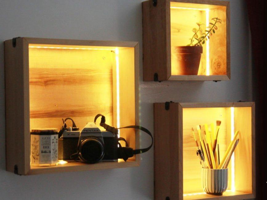Декор в виде подсветки