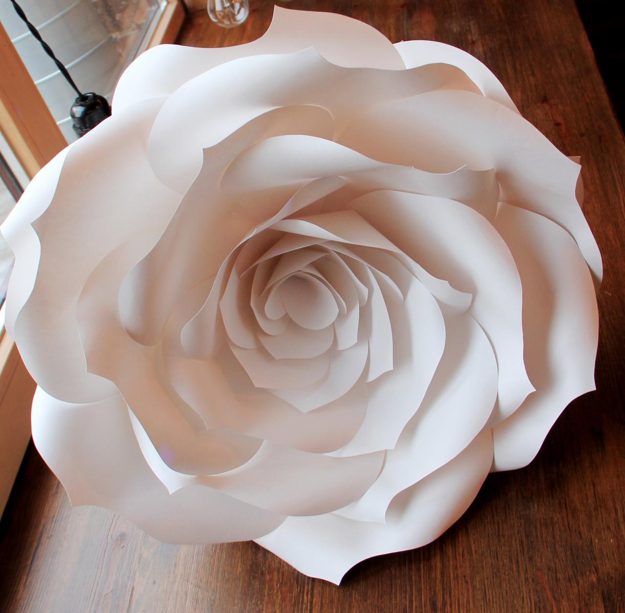 Большая бумажная роза своими руками шаблоны
