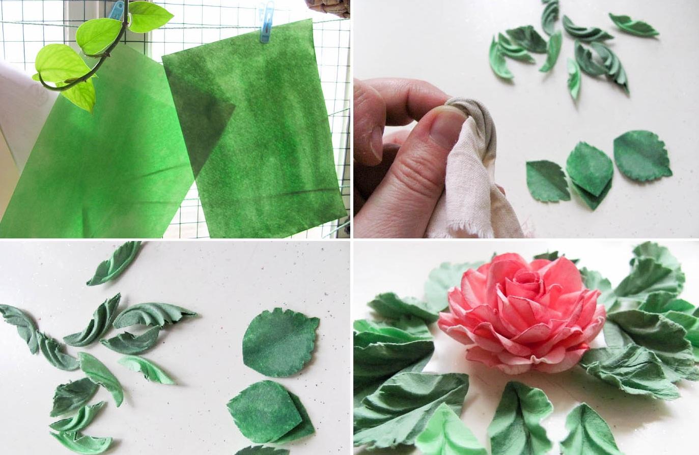 Как сделать листья из бумаги своими руками поэтапно фото
