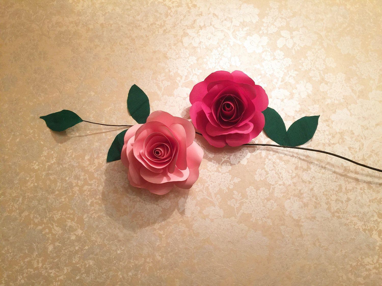 Бумажные розы пошагово фото