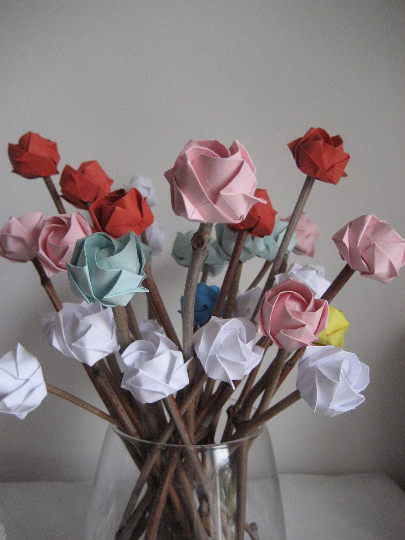 Как сделать розы из папиросной бумаги