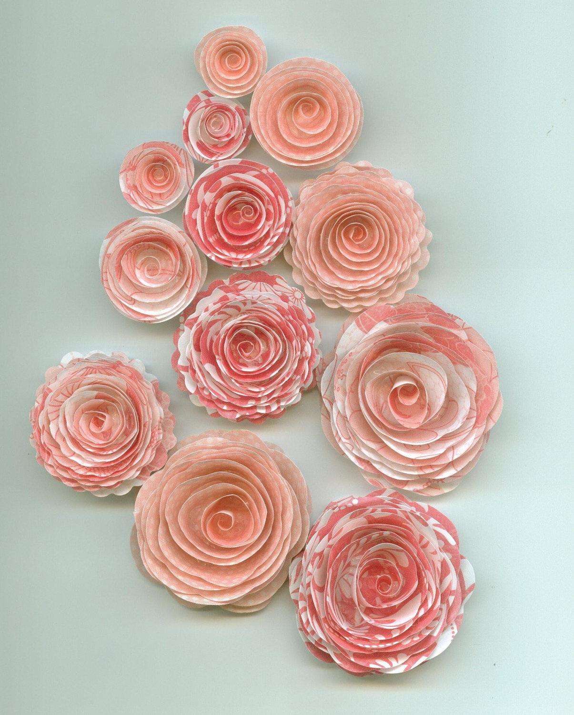 Цветы из бумаги спирали