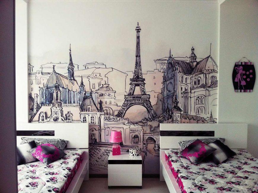 Красота Парижа в нежных оттенках для девочек