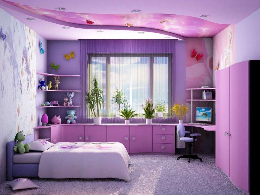 Комната должна быть светлой и не загроможденной мебелью