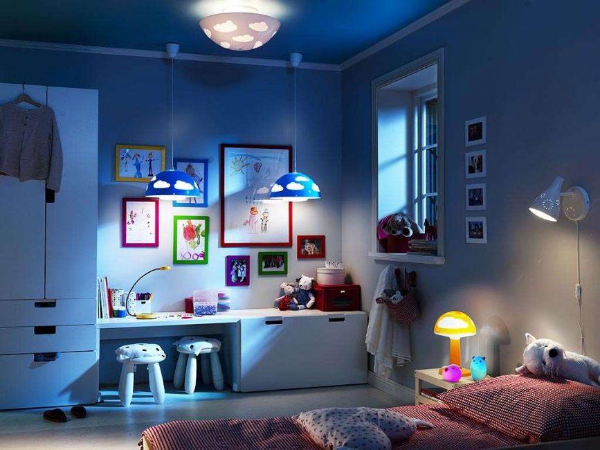 Не экономьте на освещении для своих детей