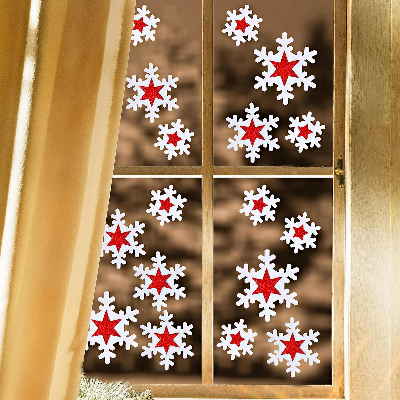 Как украсит окна на новый год своими руками