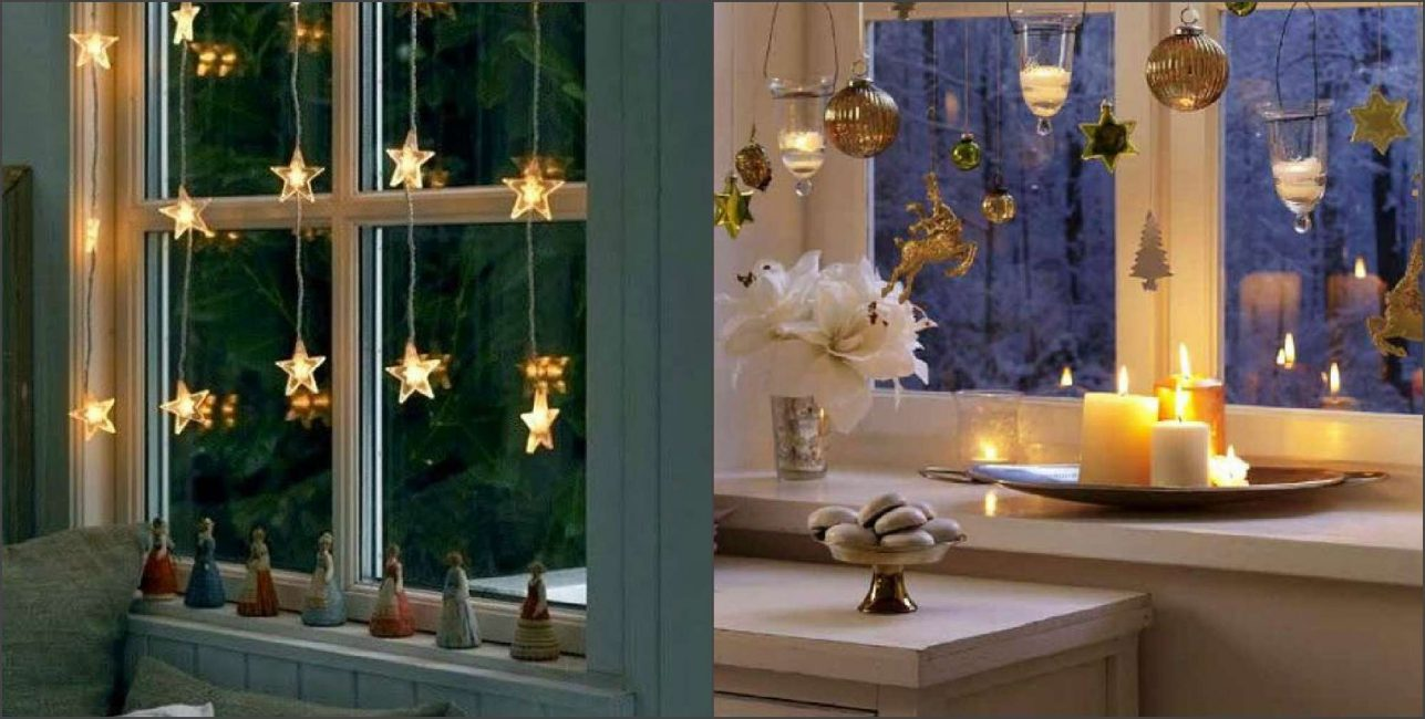 Свечи можно расставить на подносе