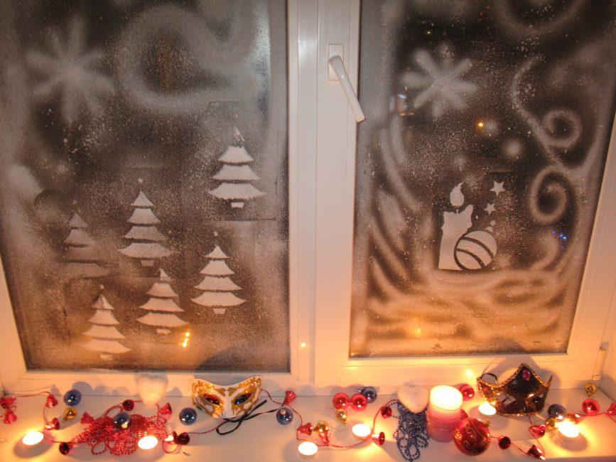 Подсветка придаст декору больше магичности и ощущения праздника
