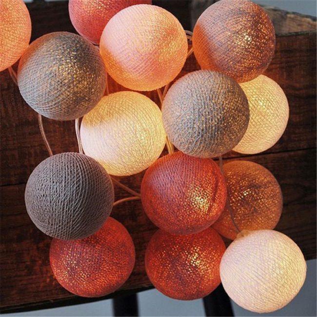 Ватные шарики для украшения