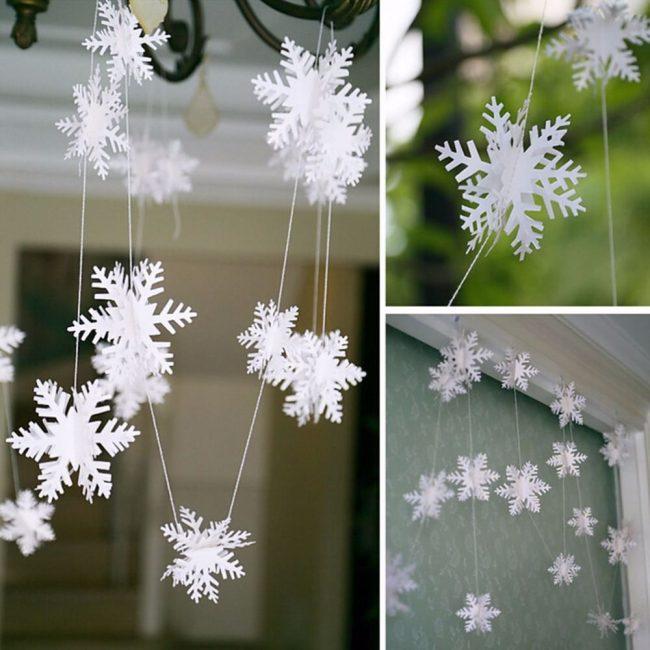 Снежинки - любимые с детства украшения на Новый год