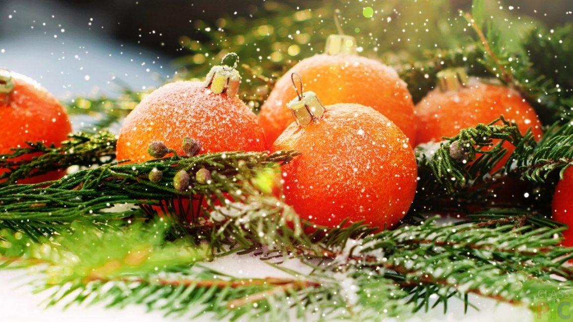"""Украсьте сосенку оранжевыми """"мандаринками"""""""