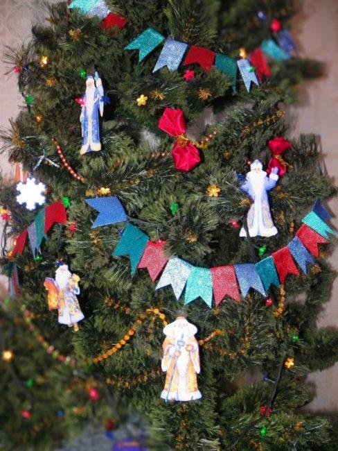 Стилизация советской новогодней ёлки