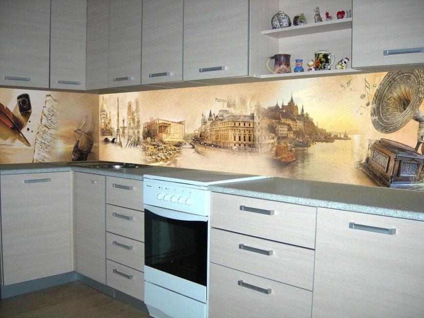 Оформление зоны фартука на кухне