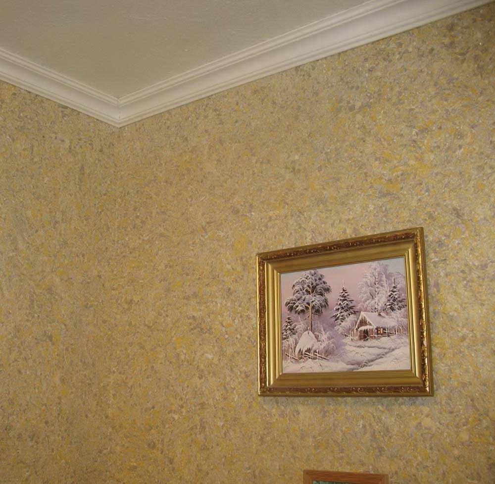 Обои под покраску для потолка из гипсокартона 10