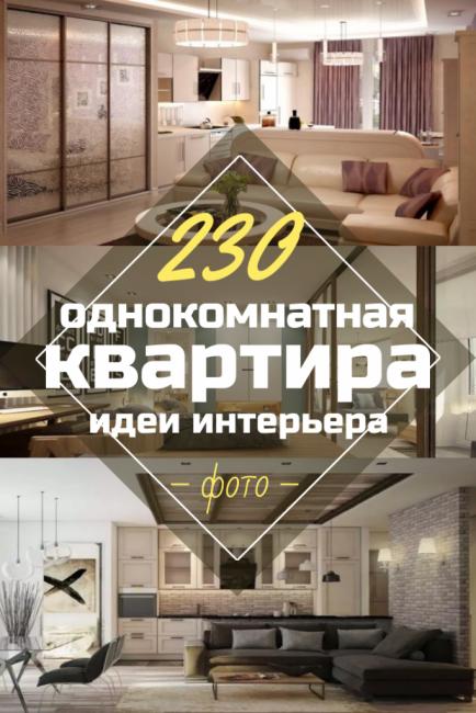 230+ Фото Идей интерьеров одно комнатной квартиры