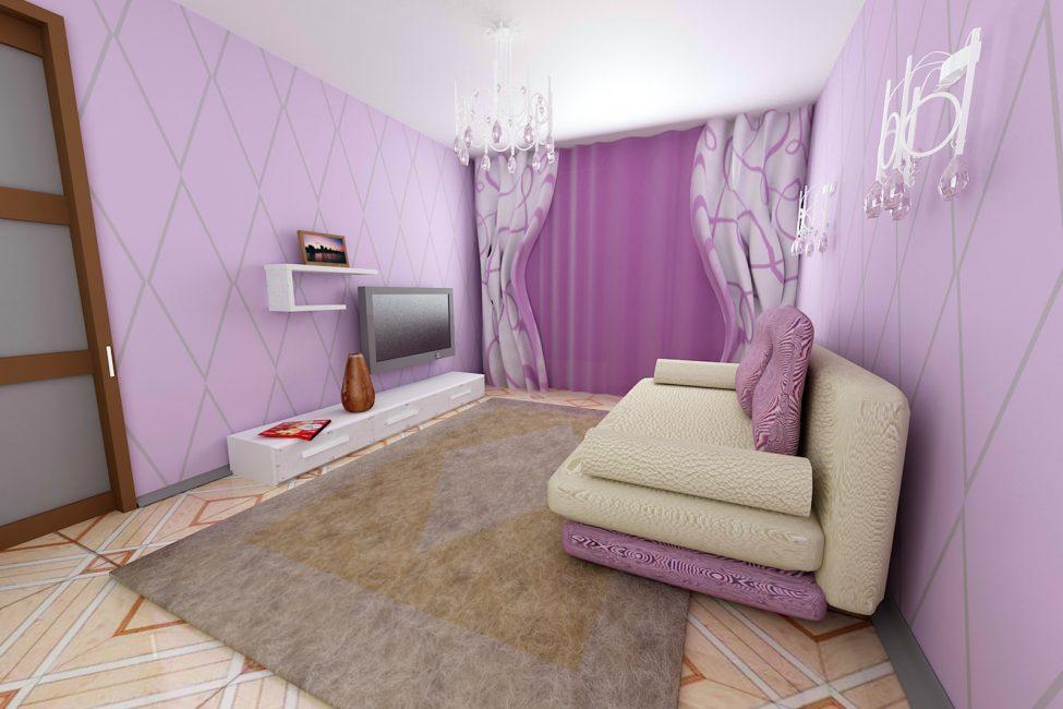 Модная и теплая атмосфера комнаты