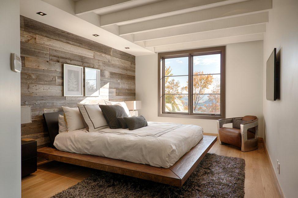 Бежевый дизайн интерьера спальни