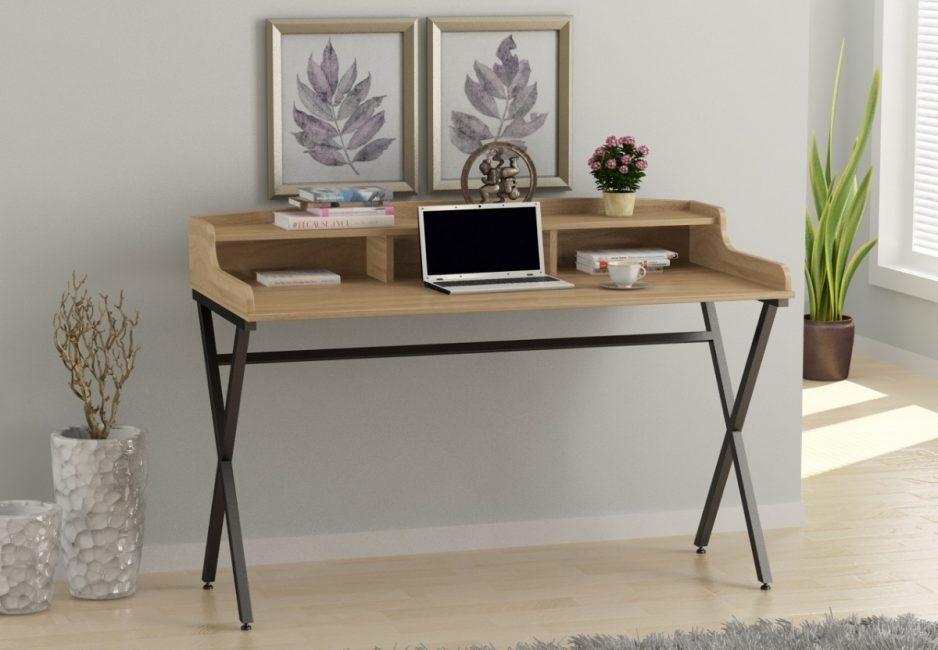 Конструкция письменных столов в стиле лофт может быть самой разной