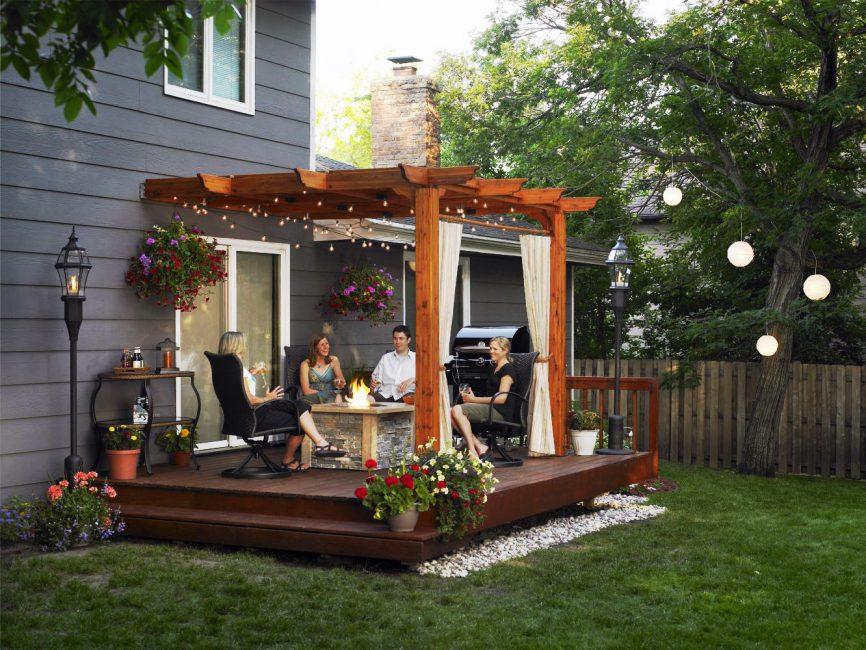 Уютное крыльцо - для вечеров с семьей