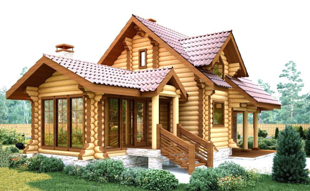 Деревянный дом характеризуется уютом, полной безопасностью для организма человека