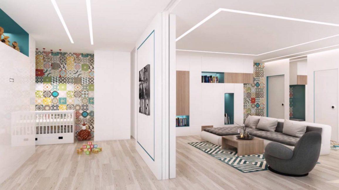 Квартира студия для семьи с ребенком
