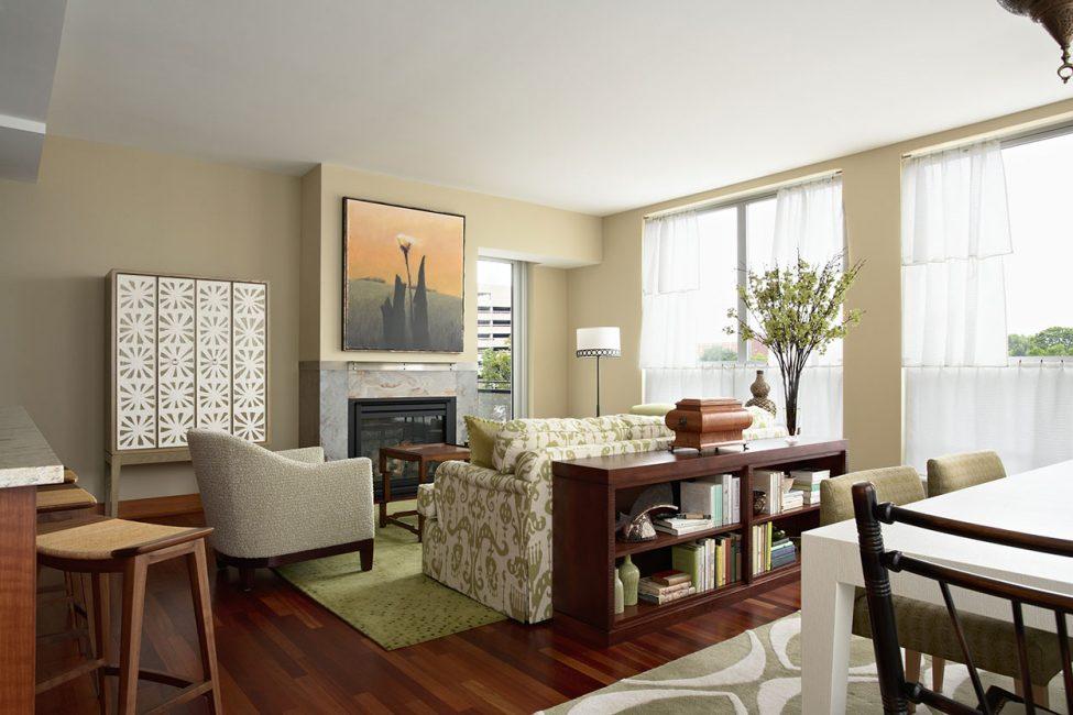 Разграничение с помощью мебели