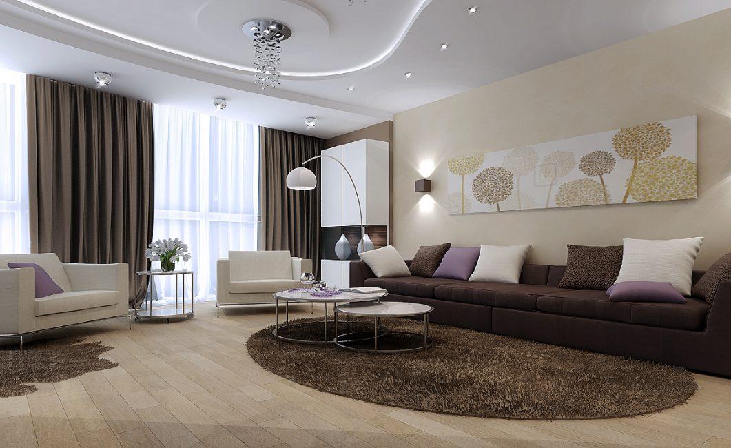 Вариант для дизайна интерьера гостиной