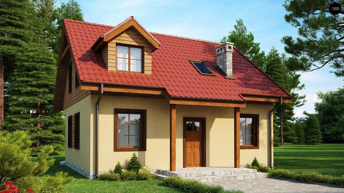 Дом одноэтажный с мансардой