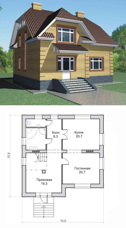 включить проекты домов с мансардой чертежи и фото самой