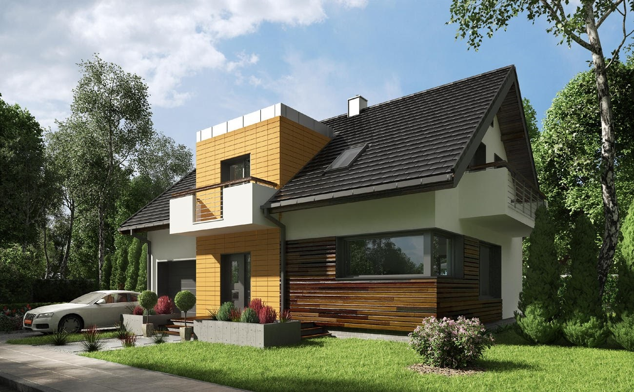 проекты современных домов с мансардой фото все