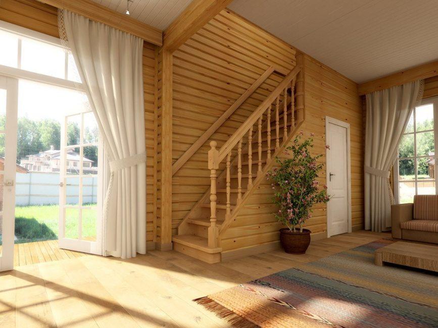 В небольших домах не устанавливайте тяжеловесные конструкции