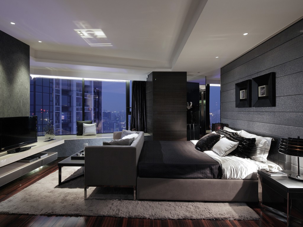 Монохромная палитра – подходящий выбор для спальни