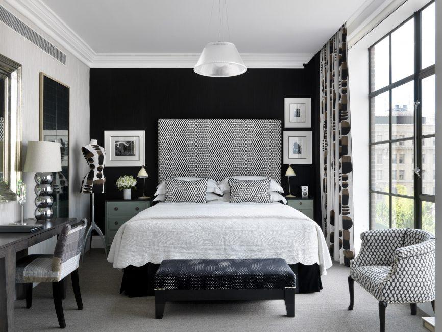 Выбирайте доминирующий белый интерьер в своей спальне