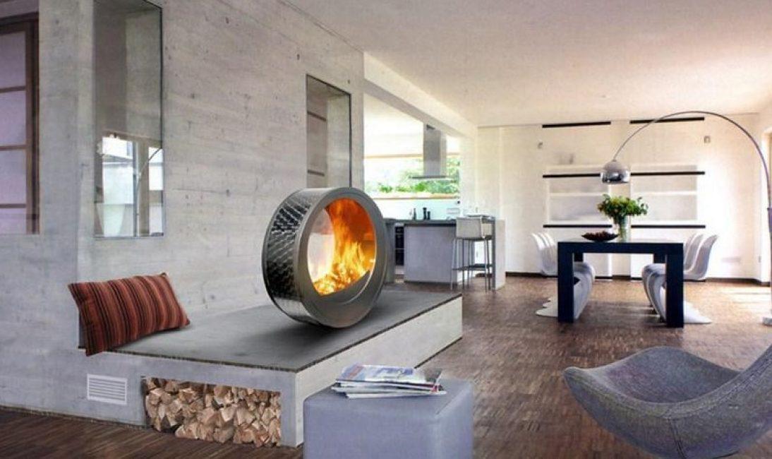 Мобильная конструкция, добавит необычайного стиля в вашу гостиную
