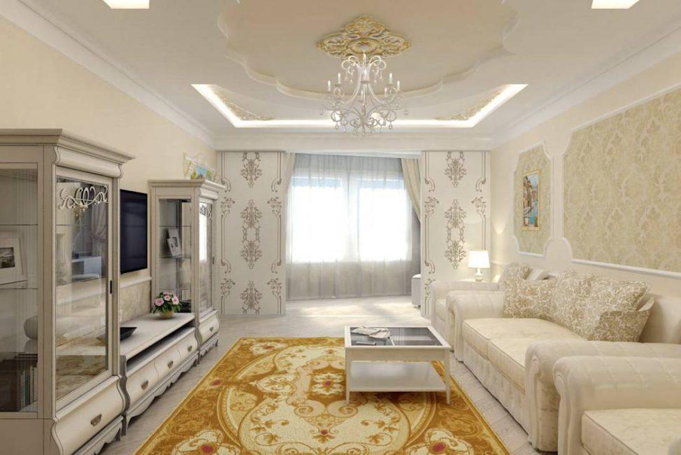 Декоративная штукатура – более дешевая идея оформления потолка