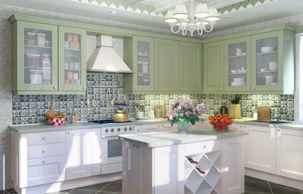 Освещение немаловажная часть кухни в стиле прованс