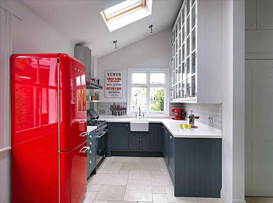 Стильная кухня в ретро стиле