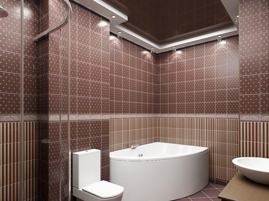 Многоуровневый потолок чаще используется в домах