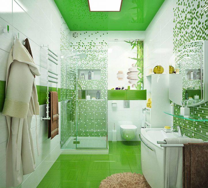 Яркий потолок может стать изюминкой помещения