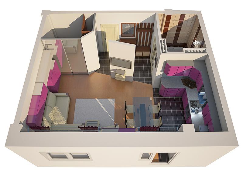 Уютный план небольшой квартирки