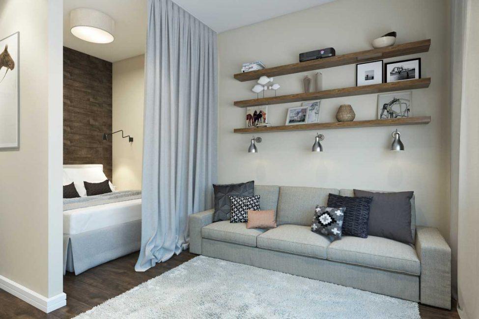 Вариант зонирования квартиры