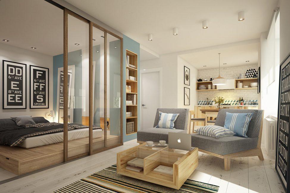 Стильная, небольшая квартирка