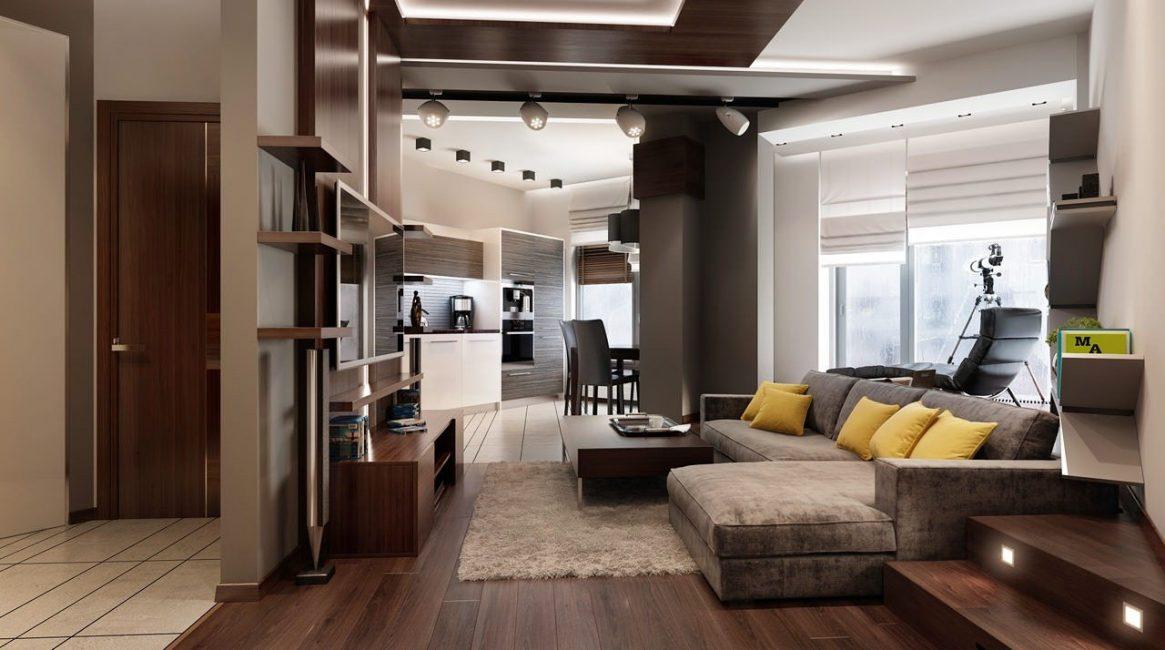 Коврик сделает комнату, визуально, более просторной